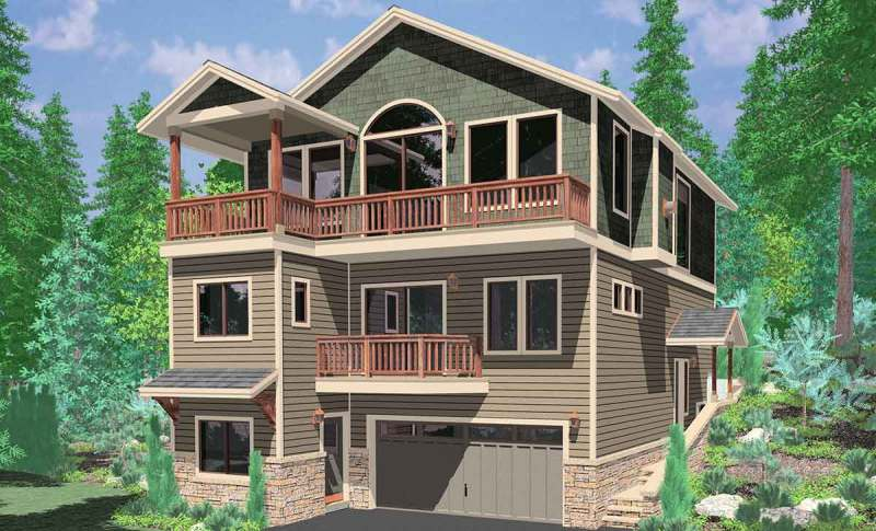 Large Of House Plans For Narrow Lots