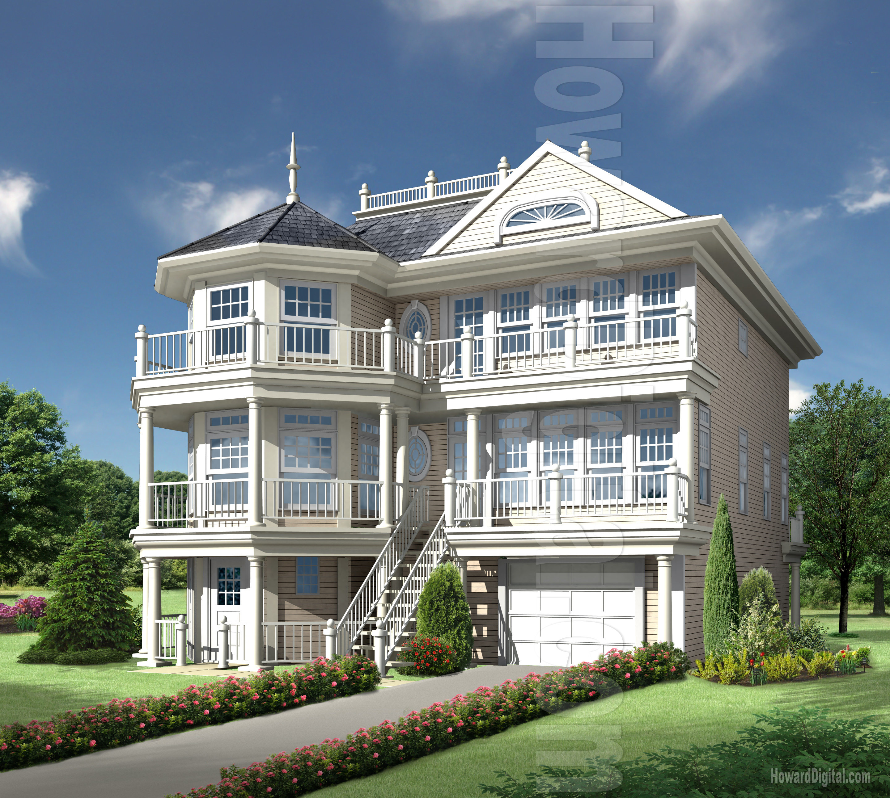 House Rendering   Howard Digital Residential single family Home Illustrations