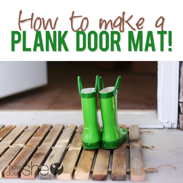 DIY Plank Door Mat