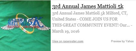3RD ANNUAL JAMES MATTIOLI 5K RACE