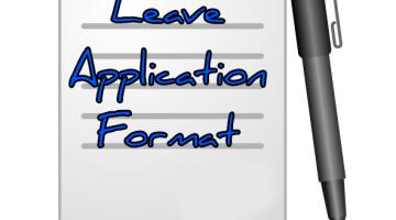 Leave Application Letter format