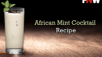 African Mint Cocktail on Wooden table