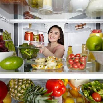 fresh food in fridge