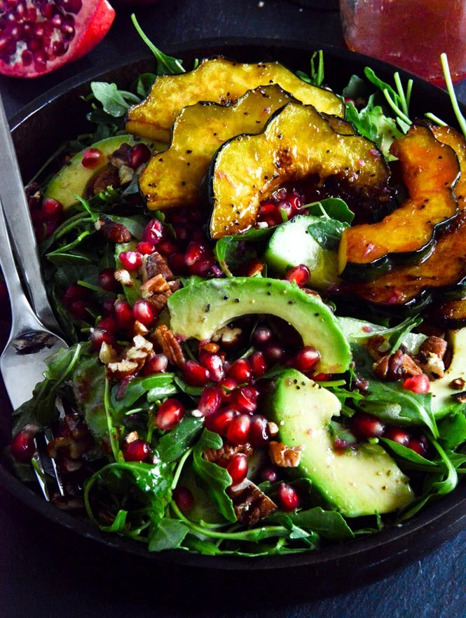 Paleo Roasted Acorn Squash Salad