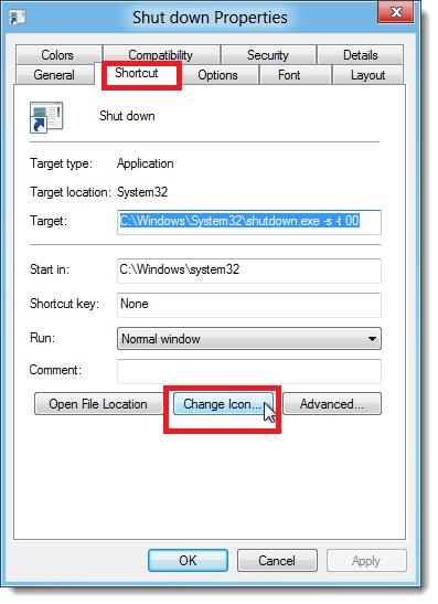 How to create Shutdown, Restart, Sleep Shortcut in Windows 8