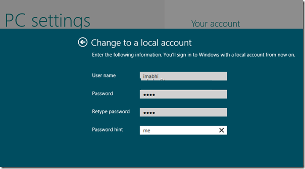 windows 8 login account