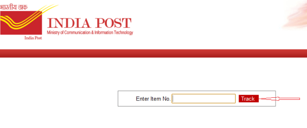 click on track button or items in india post