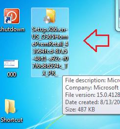 installer file of office 2013
