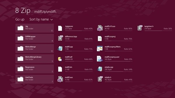 8Zip app for windows8