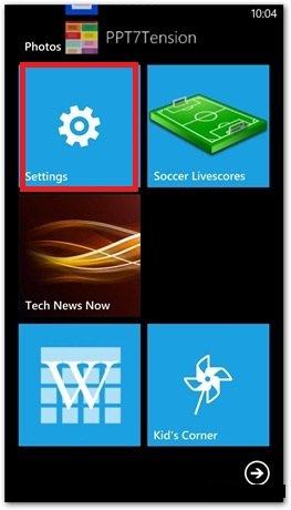 windows phone 8 settings tile