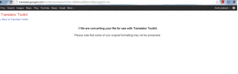 convert word file from google translator toolkit
