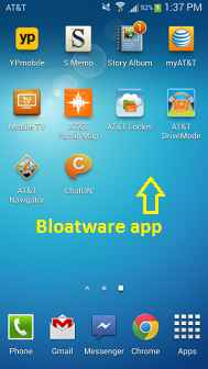galaxy s4 disable bloatware apps