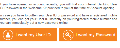get your user id and password