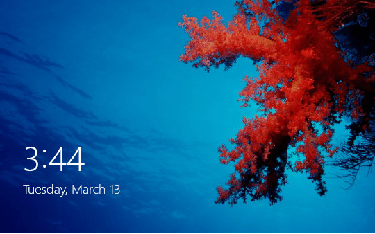 windows 8 locked screen