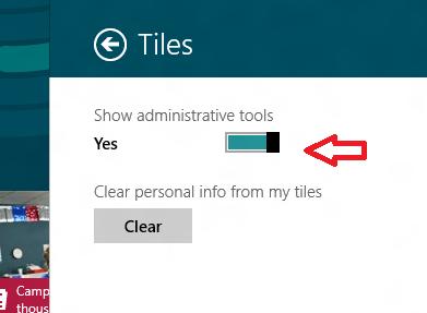 windows 8 show administartive tools