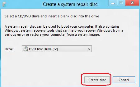 windows 8 system repair disc tool screen