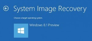windows 8.1 image recovery