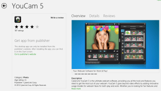 youcam 5 webcam app for windows 8