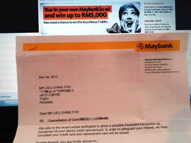 Maybank2u fraud notice