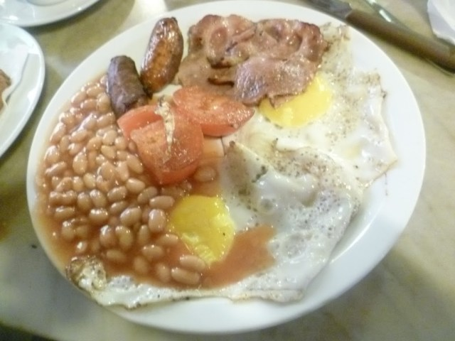English Breakfast at Museum Cafe
