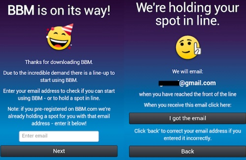 How to sign up for BBM by avoiding waiting on Android and iOS
