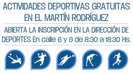 Inscriben para actividades deportivas en barrios y Martín Rodríguez