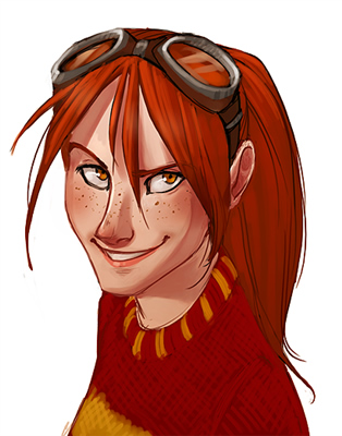 My favorite image of Ginny from the Lexicon.