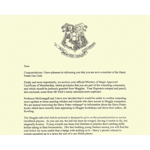 Medium Crop Of Harry Potter Letter