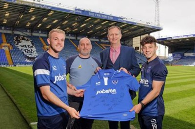 The signed shirt will be auctioned off to raise money for the Teenage Cancer Trust through the Portsmouth branch of City Plumbing Supplies.