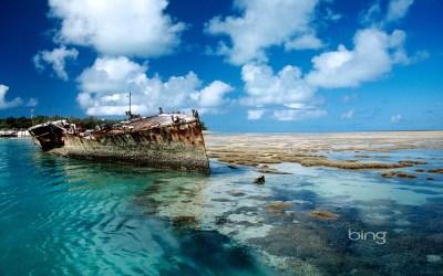 Shipwreck on Heron Island, Australia | HD Wallpapers