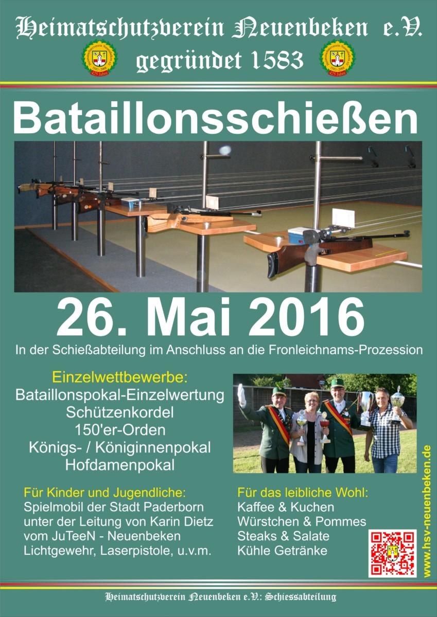 Fronleichnamsprozession und Bataillonsschießen 2016