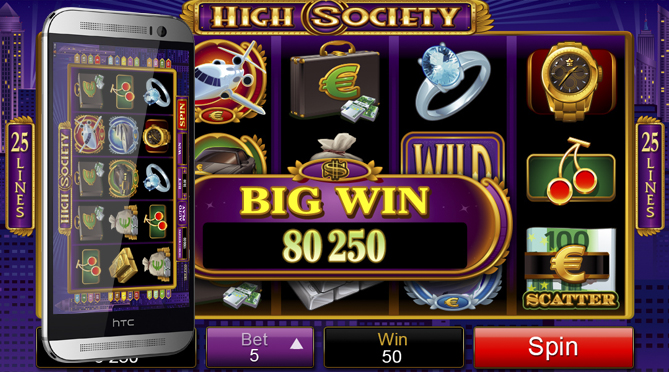 high society pokies htc