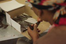 The finishing touches to all of Fouche's chocolates are done by hand.
