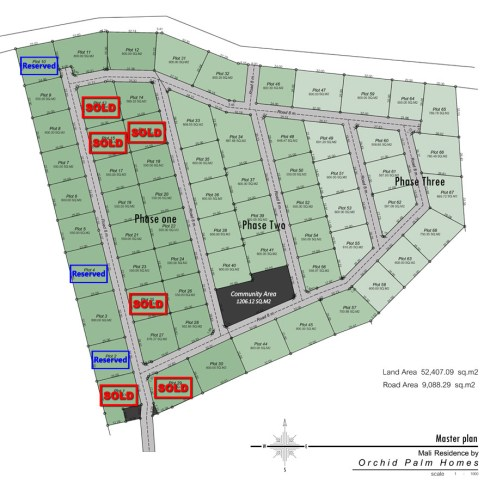 Orchid Palm Homes Site plan