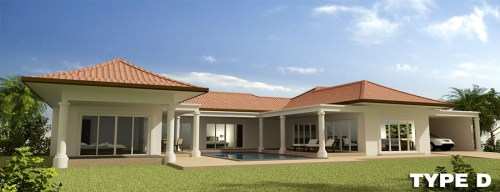 Orchid Palm Homes Villa For sale in Hua Hin Type_D_-_Perspective