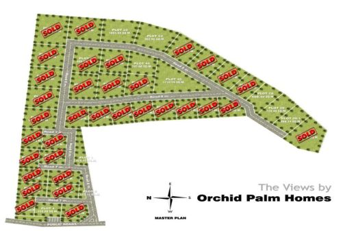 """The Orchid Plam Homes Site layout for """"The Views"""""""