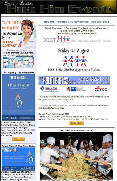 Hua Hin Events for August 2015