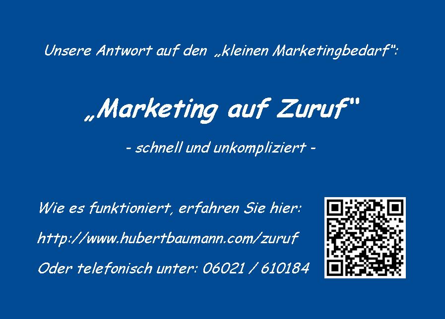 Unsere Antwort auf den kleinen Marketingbedarf