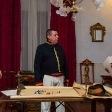 Visita guiada a palacio de Valdeolivos de Fonz ambientadas en la Guerra de la Independencia. Las imagenes son de Alejandro Lansac