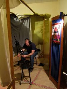 Hugh in recording studio