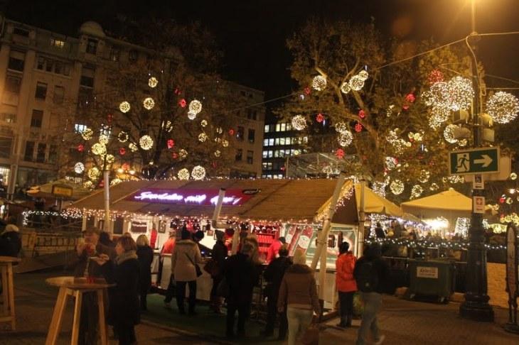 The most popular market at Vörösmarty square