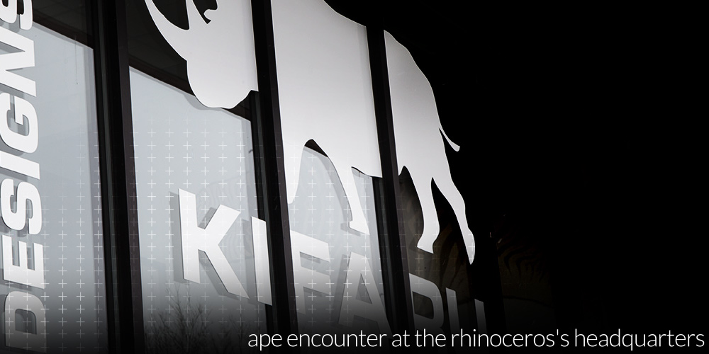Ape Encounter at the Rhinoceros's Headquarters