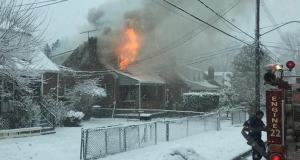 Units tackle first due house fire - March 2015