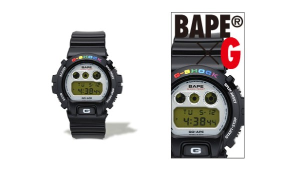 a bathing ape bape casio g shock dw 6900 A Bathing Ape x CASIO G SHOCK DW 6900