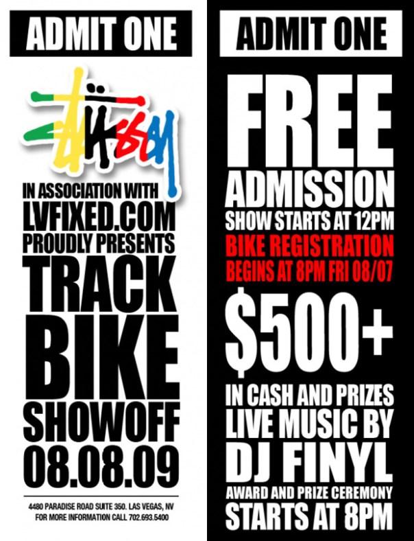 stussy lvfixed track bike showoff Stussy x LVFIXED.com presents Track Bike Showoff