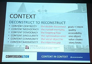 Content in context – deconstruct to reconstruct – picture by Loes van Dokkum