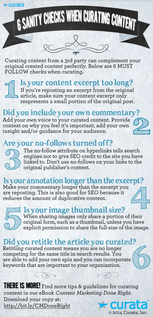 6 Sanity Checks when Curating Content [Infographic]