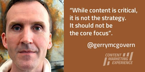 Gerry McGovern on content and strategy