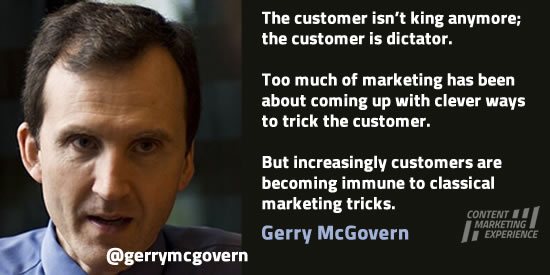 Gerry McGovern on customer-centricity and online content