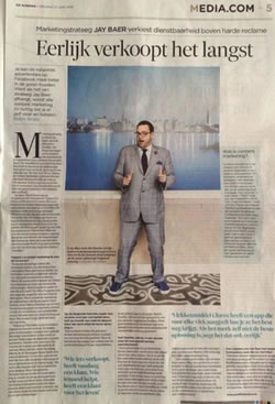 Youtility seems to ressonate - Jay Baer interview in Belgian newspaper De Morgen at the Content Marketing Conference Europe